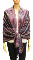 Wholesale Gaint Paisley Pashmina Navy