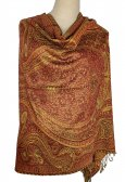 Giant Paisley Shawl Red/Orange