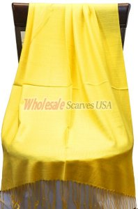 Silky Light Solid Pashmina Yellow