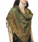 Small Paisley Scarf Dark Sea Green