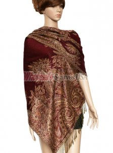 Phoenix Tail Thicker Wrap Jujube Red