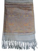 Wholesale Paisley Heart Pashmina Grey