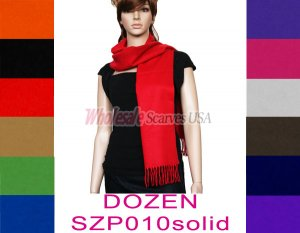 Woven Solid Scarf 1 DZ, Asst. Color