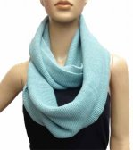Infinity Solid Knit Scarf Light Blue