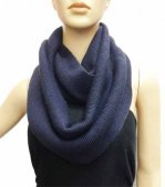 Infinity Solid Knit Scarf Navy