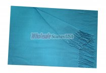 Woven Plain Scarf Bright Blue