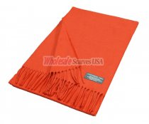 Winter Woven Plain Scarf Orange Red