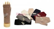 Winter Fingerless Pearl & Diamond Gloves 1 DZ, Asst. Color