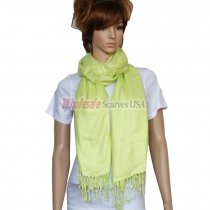 Solid Pashmina Bright Green Dozen (12 pcs)