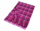Woven Checker Scarf A52 Pink