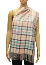 Plaid Scarf Light Pink