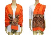 Pashmina Heart Pattern Orange