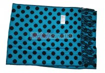Cashmere Feel Dots Scarf Blue