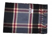 Cashmere Feel Plaid Scarf Dark Red/Grey