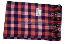 Cashmere Feel Checker Scarf Pink/Navy