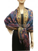 Pashmina Abstract Navy