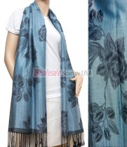 Rose Pashmina Light Denim