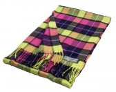 Cashmere Feel Plaid Scarf Pink/Green