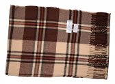 Cashmere Feel Plaid Scarf Brown #SF-028