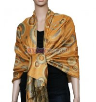 Circle Design Scarf Gold