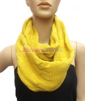 Wholesale Infinity Solid Scarf Yellow