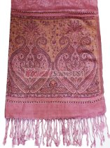 Wholesale Paisley Heart Pashmina Dusty Pink