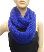 Chunky Lurex Infinity Scarf Royal Blue