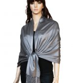 Super Solid Pashmina Grey