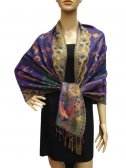 Pashmina Abstract Leaf Purple