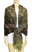 Pashmina Multi Paisley Brown