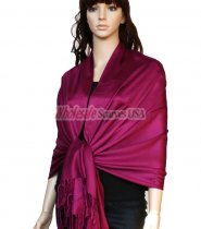 Super Solid Pashmina Violet Red