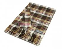 Cashmere Feel Plaid Scarf Brown/Tan