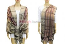 Pashmina Checker & Butterfly Tan / Black