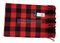 Cashmere Feel Checker Scarf Black/Red