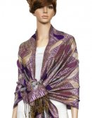 Metallic Pashmina Purple