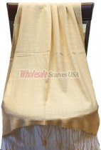 Silky Light Solid Pashmina Beige
