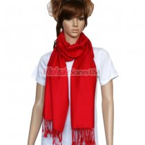 Solid Pashmina Red Dozen (12 pcs)