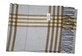 Cashmere Feel Plaid Scarf Light Blue