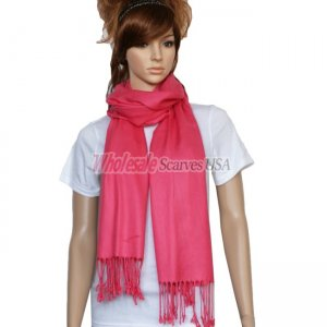 Solid Pashmina Hot Pink