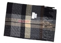 Cashmere Feel Plaid Scarf Black/Grey #37439