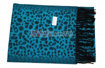 Cashmere Feel Leopard Scarf Blue
