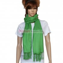 Solid Pashmina Green Dozen (12 pcs)
