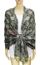 Pashmina Multi Paisley Black / Gold