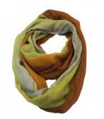 Infinity gradient print scarf brown