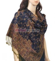 Small Paisley Scarf Navy