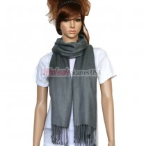 Solid Pashmina Dark Grey