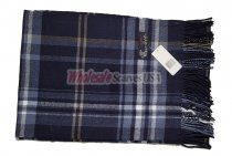 Cashmere Feel Plaid Scarf Navy
