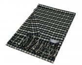 Woven Checker Scarf A53 Black/Grey