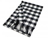Woven Square Design Scarf A7 Black/White