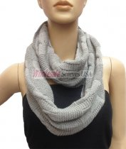 Wholesale Infinity Solid Scarf Light Grey